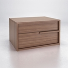 Jane 2-Drawer Nightstand - Wood, Walnut Finish