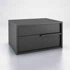 Jane 2-Drawer Nightstand - Wood, Wenge Finish