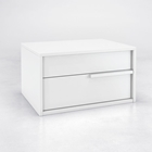 Jane 2-Drawer Nightstand - Wood, White Lacquer