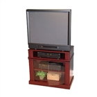 Swivel Top 31%27%27 TV/DVD Cart in Cherry