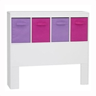 Girl%27s White Headboard with Storage