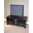 Large 47%27%27 Black Woodgrain TV Stand