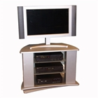 Swivel Silver Entertainment Stand