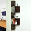 Hanging Corner Display Unit - 4 Shelves, Chocolate Brown Finish