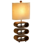 Rhythm Tall Table Lamp in Walnut