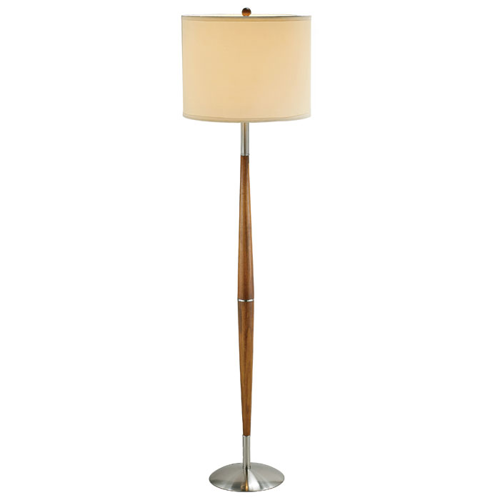 Hudson Floor Lamp in Dark Maple