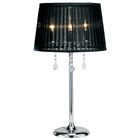 Cabaret Table Lamp with Black Shade