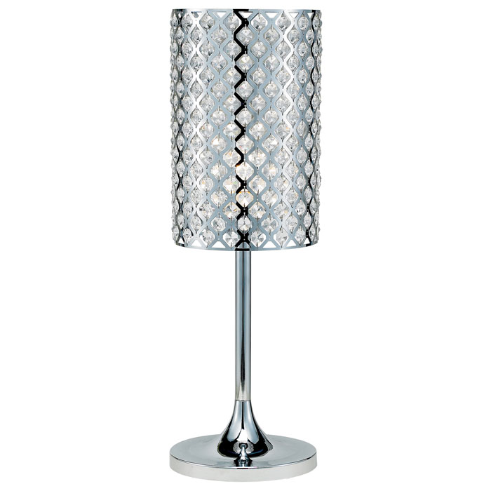 Glitz Chrome Table Lamp