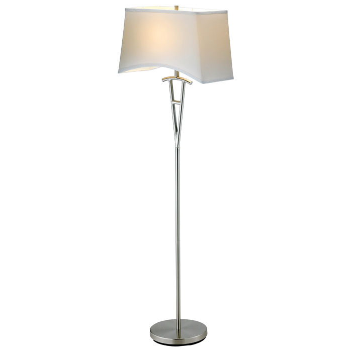 Taylor Floor Lamp with White Shade - ADE-3657-22
