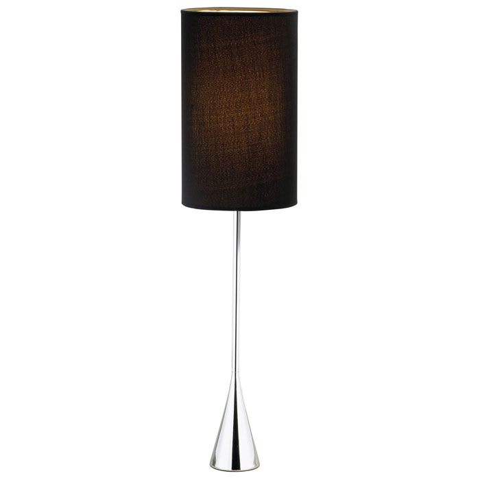 Bella Table Lamp in Black and Chrome