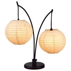 Spheres 2-Lantern Table Lamp