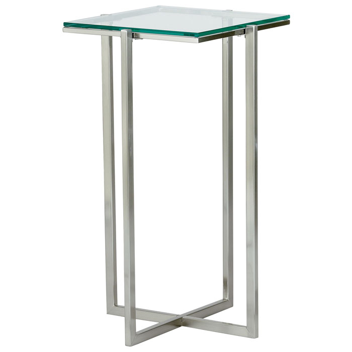 Glacier Medium Square Pedestal with Glass Top