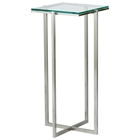 Glacier Tall Square Pedestal with Glass Top