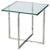 Glacier Square End Table with Glass Top