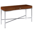 Galleria Console Table - Stainless Steel Base, Latte on Birch Top