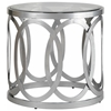 Alchemy Round End Table - Frosted Glass Top