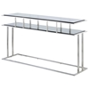 Mirage Console Table - Stainless Steel, Smoked Grey Glass