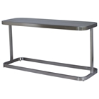 James Console Table - Smoked Grey Glass, Brushed Stainless Steel