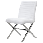 Sasha Contemporary Dining Chair - Bonded Leather