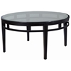 Madrid Round Cocktail Table - Glass Top, Oil Rubbed Bronze Metal