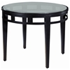 Madrid Round End Table - Glass Top, Oil Rubbed Bronze Metal Base