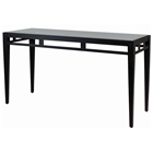 Madrid Console Table - Glass Top, Oil Rubbed Bronze Metal Base