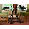 Bianca Dining Table - Metallic Bronze Base, 48'' Glass Round Top