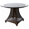 Bianca Dining Table - Meshed Metal Base, 48'' Glass Round Top