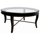 Dania Metal Cocktail Table - Yard Gold Finish, Round Glass Top
