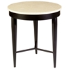 Lisa Two Tone End Table - Crema Marfil Stone Top, Old Iron Base