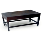 Marion Wood Cocktail Table - Espresso, Tapered Legs, Rectangular