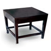 Marion Wood End Table - Espresso, Tapered Legs, Square Top