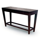 Marion Wood Console Table - Espresso on Birch, Tapered Legs