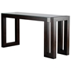 Calligraphy Wood Console Table - Espresso, Glass Top