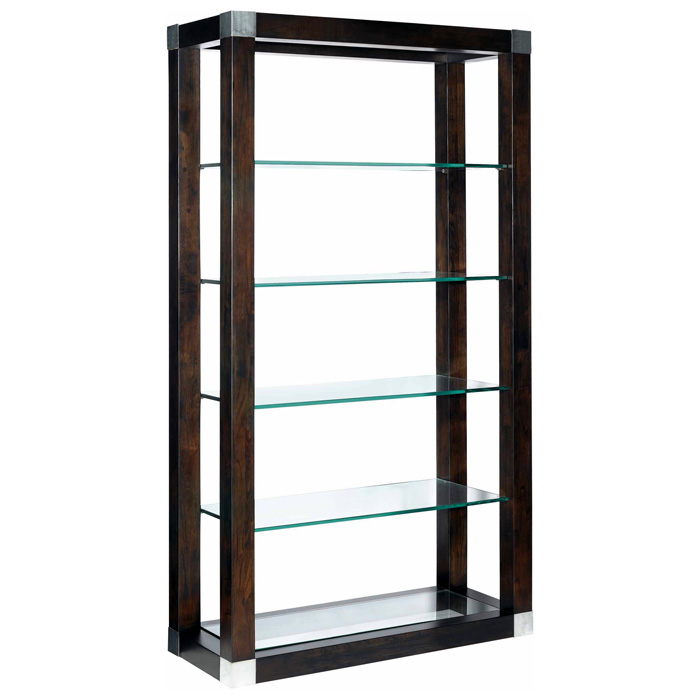 Calligraphy 5-Tier Display Unit - Espresso, Glass Shelves