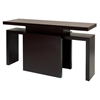Sebring Rectangular Console Table - Mocha on Oak