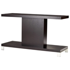Force Console Table - Mocha on Oak, Brushed Stainless Steel