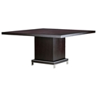 Force Square Dining Table - Mocha on Oak, Stainless Steel Accents