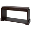 Vienna Rectangular Console Table - Walnut, Open Shelf, 2 Drawers