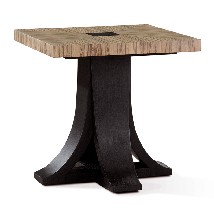 Bonita Square End Table - Zebrawood, Mocha on Oak - ACD-30703-02