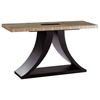 Bonita Rectangular Console Table - Zebrawood, Mocha on Oak