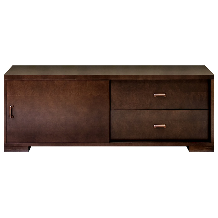 Pavilion Entertainment Cabinet - Espresso, 2 Drawers, Sliding Door
