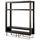 Palisada Entertainment Center - Espresso on Ash, Polished Chrome