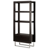 Palisada Display Unit - Espresso on Ash, Polished Chrome Legs