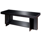 La Jolla Wood Cocktail Table - Espresso, Rectangular Top, Shelf