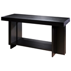 La Jolla Wood Console Table - Espresso, Rectangular Top, Shelf