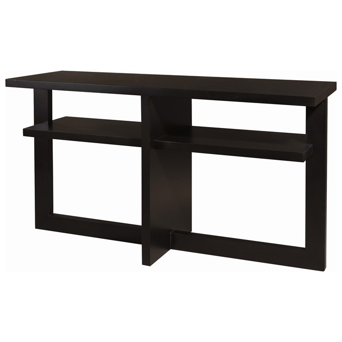 Samantha Rectangular Console Table - Espresso on Birch