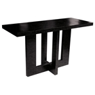Andy Contemporary Console Table - Black on Oak, Rectangular Top