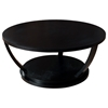 Concept Wood Cocktail Table - Black on Oak, Round Top