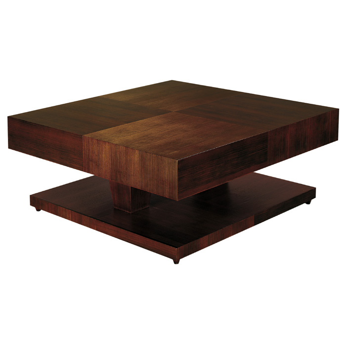 Sarasota Two Tone Cocktail Table - Walnut, Square Top